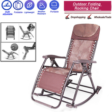 Rocking-Chair Balcony Folding Adult Siestas Leisure Up-To-180kg