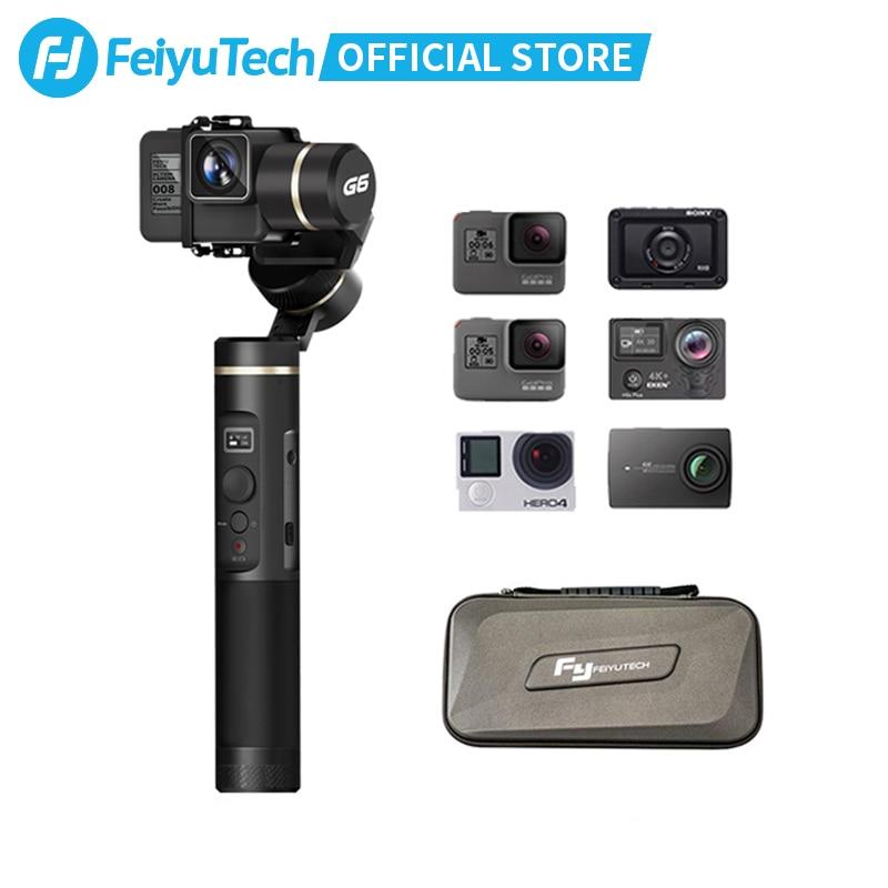 FeiyuTech G6 Handheld Gimbal Stabilizer Splashproof Wifi Bluetooth OLED Screen for Gopro Hero 7 6 5 Sony RX0 Yi