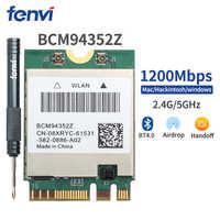 Wireless AC1200 Broadcom BCM94352Z DW1560 867Mbps BT 4.0 802.11ac NGFF M.2 Finestra di WiFi Scheda WLAN Per Il Computer Portatile Mac Hackintosh OS