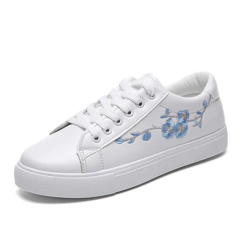 Fashion White Sneakers Flats Women