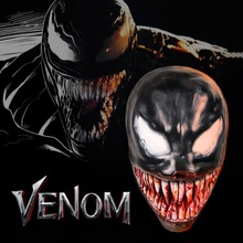 Venom SpiderMan Costume Mask Movie Halloween Party Cosplay Adult Latex Prop