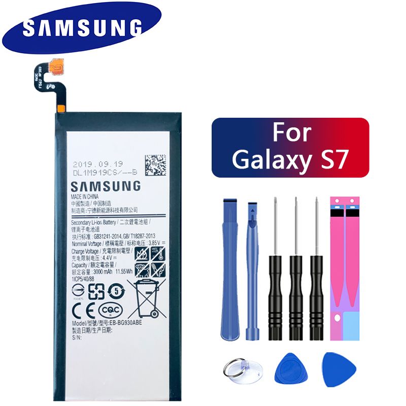 Samsung Original Phone Battery EB-BG930ABE For Samsung GALAXY S7 G9300 G930F G930A G9308 SM-G9300 Replacement Battery 3000mAh