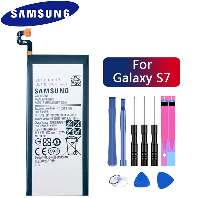 Samsung Original Phone Battery EB-BG930ABE For Samsung GALAXY S7 G9300 G930F G930A G9308 SM-G9300 Replacement Battery 3000mAh