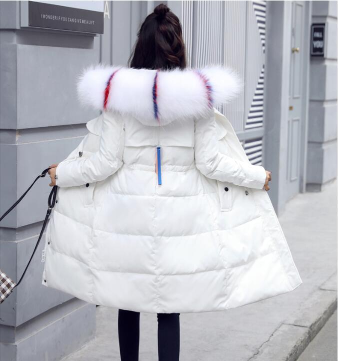 New fashion women's   down   jacket   coat   2019 winter   down   jacket women   down     coat   long slim ladies   coats   fur white duck   coat   female