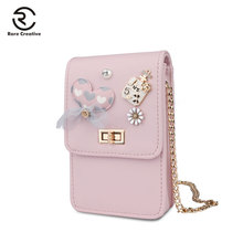 RARE CREATIVE Coin Purse PU Leather Universal Casual Phone Bag Small Brand Bags Cell Shoulder Money PM6004