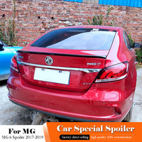AITWATT For MG 6 Black Spoiler 2017 2018 2019 ABS Plastic Rear Trunk Boot Wing Tail Lip Roof White Spoiler Car Styling 1pcs