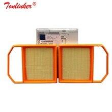 Filtro de ar a2760940504 2 pces para mercedes benz c218 cls320 x218 cls400 2014 2019 modelo filtro de ar de papel alto do motor de carro de quailty