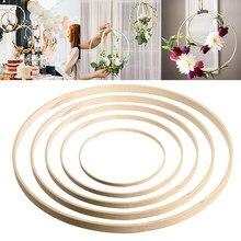 8-40cm círculo de bambu decorativo versátil diy material feito à mão para o anel redondo floral da argola da decoração do casamento da grinalda