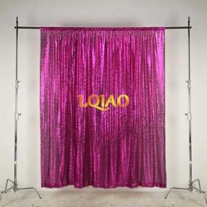Image 1 - LQIAO 10x10FT פוקסיה זהב כסף נצנצים רקע צילום לחתונה תפאורות צילום סטודיו/מפלגה/חג המולד דקור