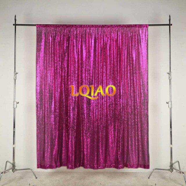 LQIAO 10x10FT פוקסיה זהב כסף נצנצים רקע צילום לחתונה תפאורות צילום סטודיו/מפלגה/חג המולד דקור