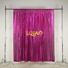 Lqiao 10x10FT Fuchsia Goud Zilver Sequin Achtergrond Trouwfoto Booth Achtergronden Voor Fotografie Studio/Party/Kerst Decor