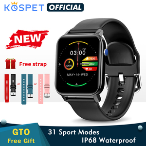 2020 KOSPET GTO Smartwatch Men Fitness Tracker Heart Rate Ip68 waterproof Bluetooth Smart Clock Women Sports Band For Kids
