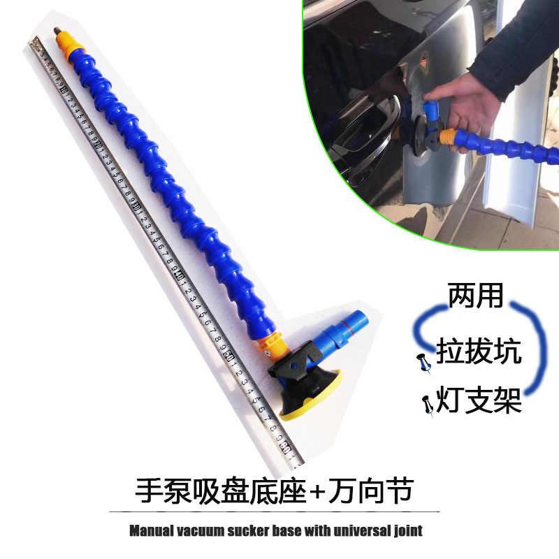 Heavy Duty pompa ręczna przyssawka z elastyczne gęsiej szyi rury i 360 statyw głowy do lampy LED PDR uchwyt na