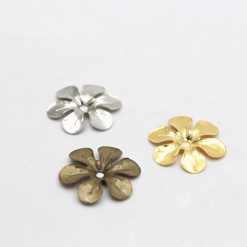 Antique bronze floral bead caps 50 pcs