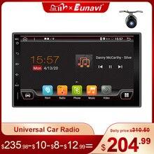 Eunavi Android 10 2 Dinรถวิทยุเครื่องเล่นวิดีโอมัลติมีเดียUniversal 7 HDหน้าจอสเตอริโอAutoradioนำทางGPSไม่มีDVD