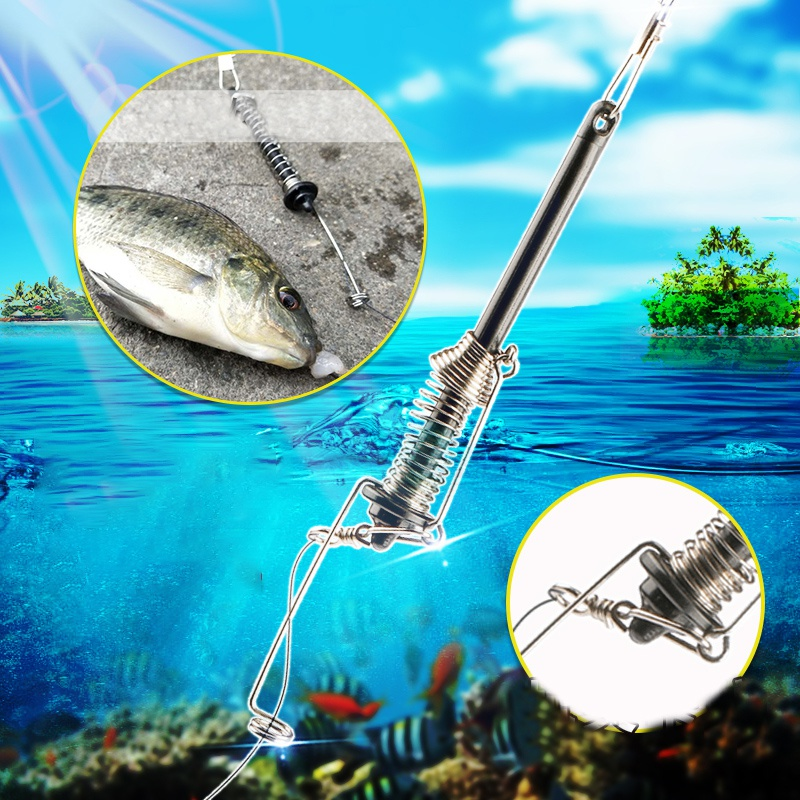 Automatic Fishing Hook Spring Trigger Hook Lazy Universal Full Speed Automatic Apring Hook Fishing Accessories