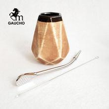 1 set/lote gaucho yerba companheiro cabaça 250 ml cerâmica calabash teaware kits com inoxidável bombilla palha e escova de limpeza venda quente