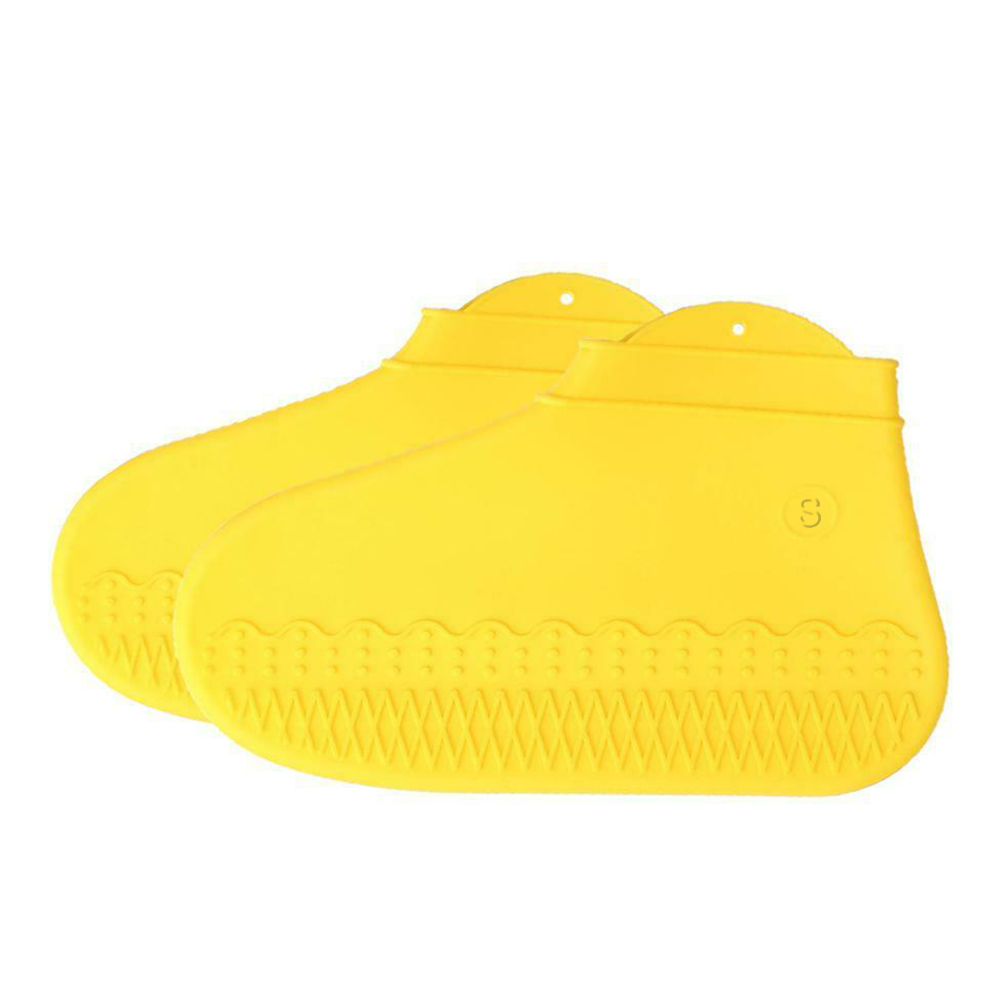 1 Pair Reusable Shoe Covers Waterproof Fashion Outdoor Overshoes Rain Elastic Protective Dustproof Non-Slip Silicone Portable
