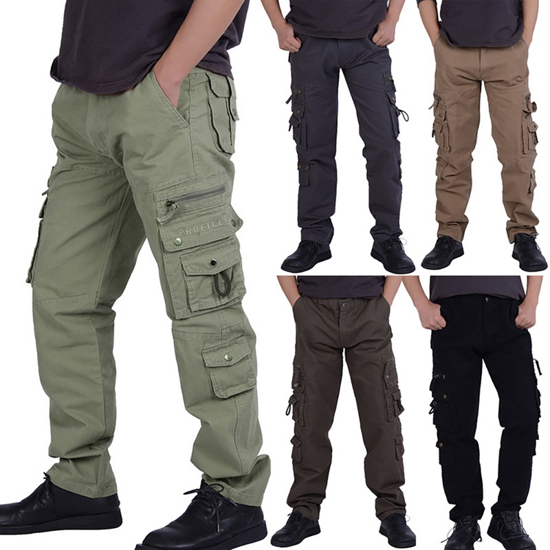 Oeak Tactical Mens Cargo Pants Camouflage Military Trousers Mens Outdoor Multi Pocket Pants Man Casual Pants Trousers 28-40