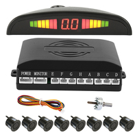 Full Set Car LED Parking Sensor with 8 Sensors Reverse Backup Car Parking Radar Monitor Detector System Display Auto Parktronic