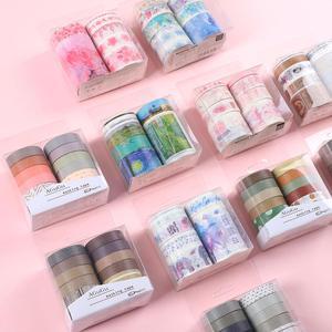 JIANWU 7pcs or 10pcs/set Cute Basic color Washi Tape Scrapbook DIY Masking Tape School Stationery Store Journal supplies(China)