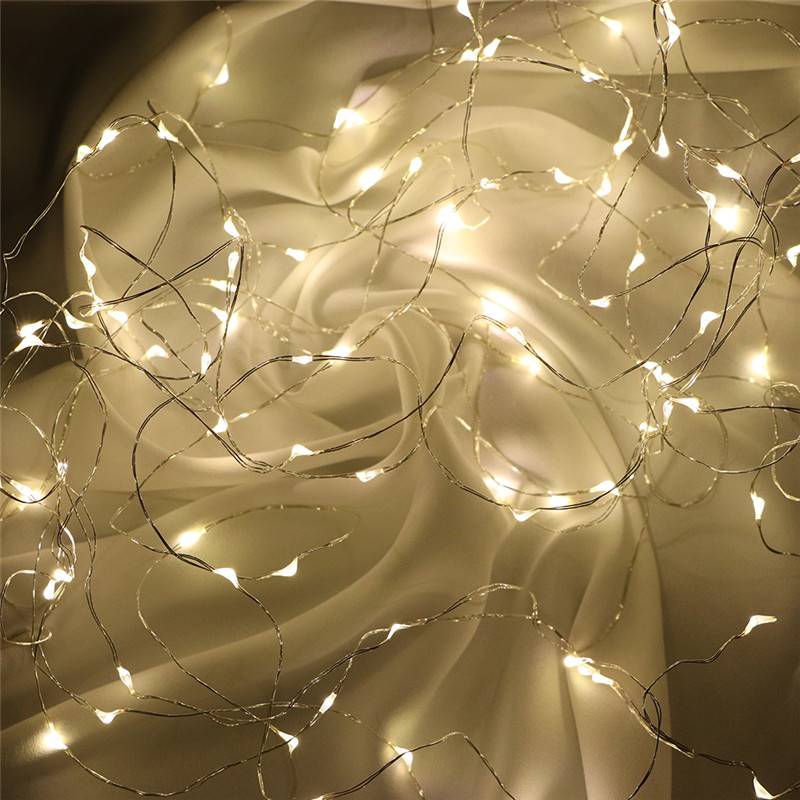 Fairy Lights AA Battery Powered 1M 10 2M 20 3M 30 5M 50 10M 100Leds Silver Led Copper Wire String Light Decorative Fairy Lights