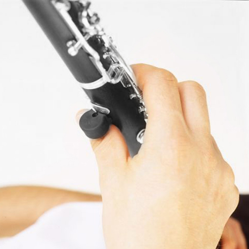 5pcs Thickness Black Rubber Clarinet Oboe Thumb Rest Cushion Pad Protector Comfortable Woodwind Instrument Parts