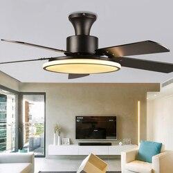220V Fans Lamp Met Dimmen Afstandsbediening 56 Inch Plafond Ventilator Licht Voor Thuis Slaapkamer Woonkamer Restaurant Decoratie