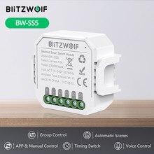 BlitzWolf BW-SS5 1 Gang/2 Gang Zwei Weg 10A 2300W WIFI Smart Switch Modul APP Fernbedienung Gruppe control Timer Smart Buchse
