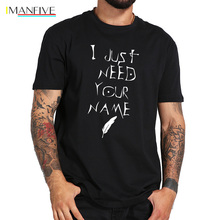 Death Note T shirt I Just Need Your Name Letter Print T-shirt Anime Breathable 100% Cotton Hip Hop Tee Shirt