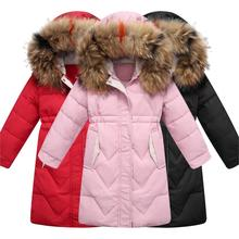 2019 Girl Winter Jacket Thick Warm Down Jacket For Girl  -30 Degrees 5-14 Years Kids Teenage Parka Children Outerwear Coat