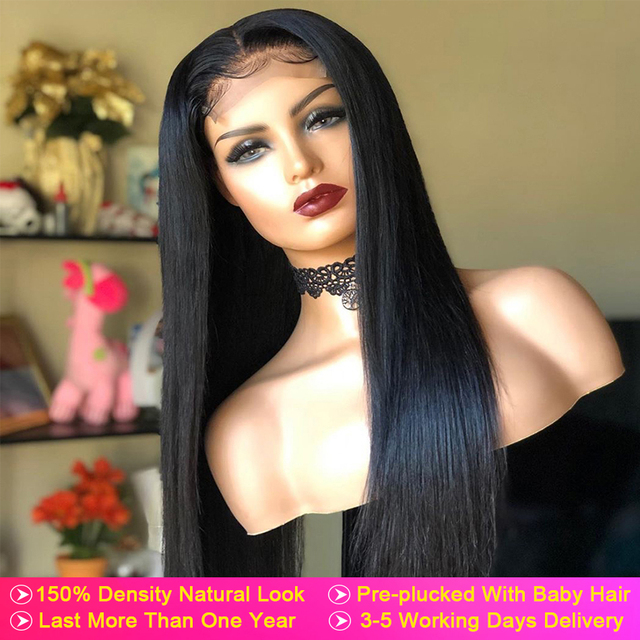 4x4 5x5 Lace Closure Human Hair Wigs Straight 28 30 Long Inch Tuneful 150% Peruvian Remy Human Hair Lace Closure Wig For Women