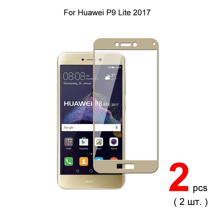 2 pièces pour Huawei P9 Lite 2017 (5.2 pouces) couverture complète verre trempé pour Huawei P9 Lite 2017 protecteur d'écran verre de protection