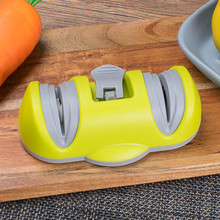 Double wheel free grip sharpener suction cup fixed sharpening artifact kitchen supplies