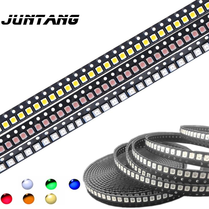 100 Pieces 3528 LED SMD White PLCC2 Super Bright Surface Mount 20mA 3V 7-8LM LED Light Emitting Diode LED 1210 SMT Downlight