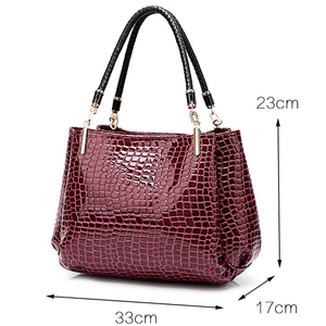 Image 3 - Novo crocodilo couro pu bolsas de luxo bolsas femininas sacos de designer famosa marca feminina sacos de grande capacidade para as mulheres sac