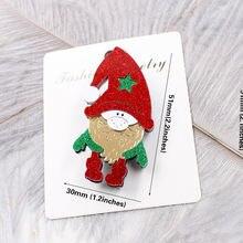Симпатичные рождественские броши женские Акриловые Красочные