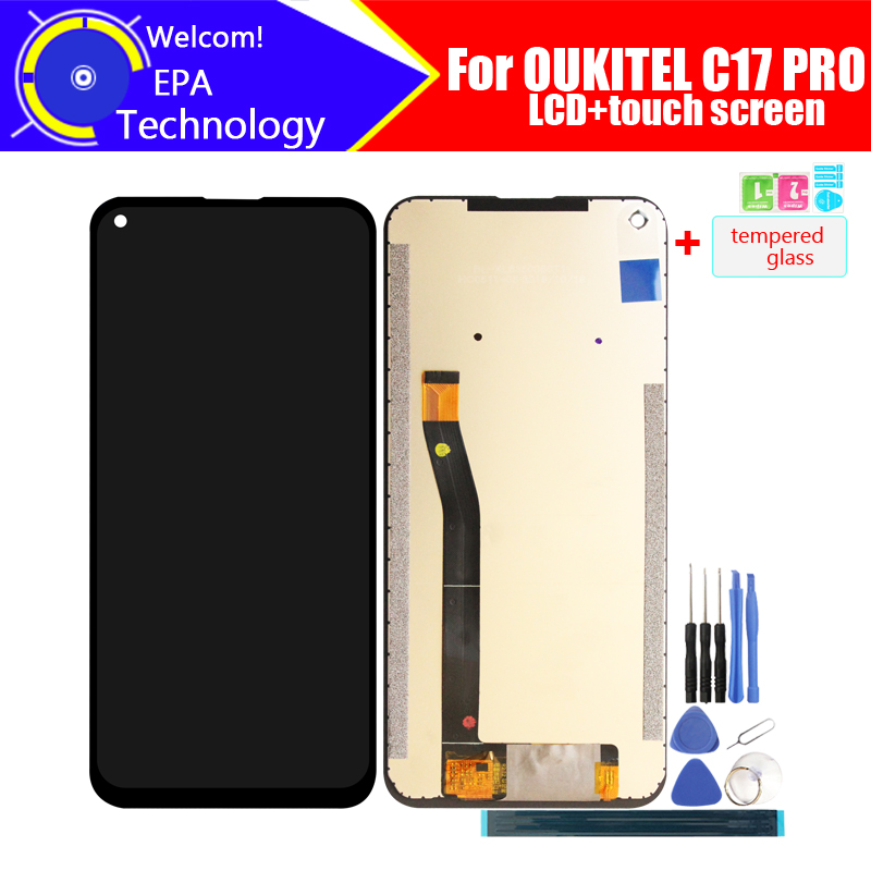 6.35 Inch OUKITEL C17 PRO LCD Display+Touch Screen Digitizer Assembly 100% Original New LCD+Touch Digitizer For C17 PRO +Tools
