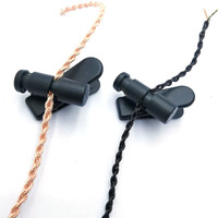 1 pcs 360° rotating earphone cable clip, headphone cable clip,diy  earphone cable clip