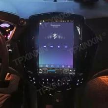 Para cadillac srx 2008 + android 10.0 tesla rádio estilo vertical unidade central de navegação gps do carro multimídia player rádio gravador fita