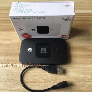 Image 2 - Unlocked yeni HUAWEI E5577 E5377 4G LTE Cat4 E5577Cs 321 E5377s 32 1500mah mobil Hotspot kablosuz WIFI yönlendirici cep