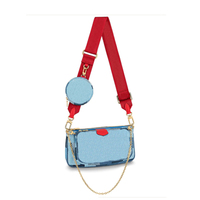 Top luxury women handbags designer canvas bag fashion brand small purse ladies three piece multi functional pocket 2020 new