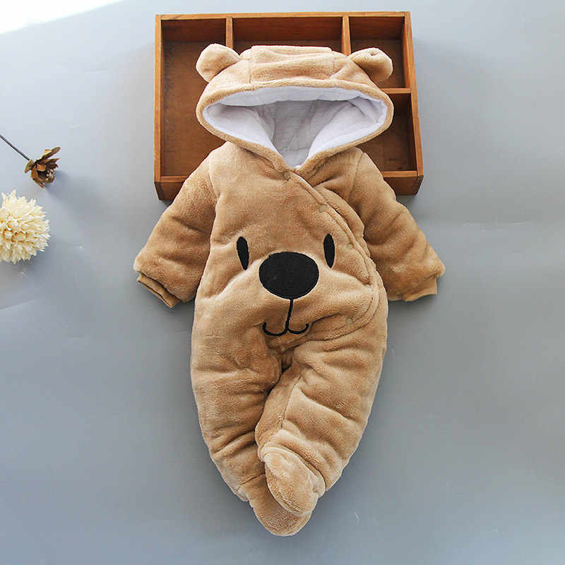 2019 Winter Cotton Newborn Baby Clothes Unisex Clothes Boy Rompers Kids Costume For Girl Toddler Infant Jumpsuit 3 6 9 12 Month