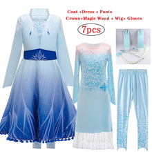 Girls Anna Elsa Dress Carnival Cosplay Party Kids Dresses For Girls Costume Elegant Princess