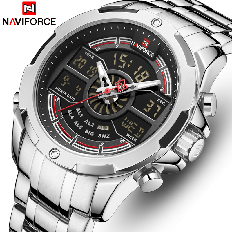 NAVIFORCE Watches For Men Top Luxury Brand Business Quartz Men's Watch Stainless Steel Waterproof Wristwatch Relogio Masculino