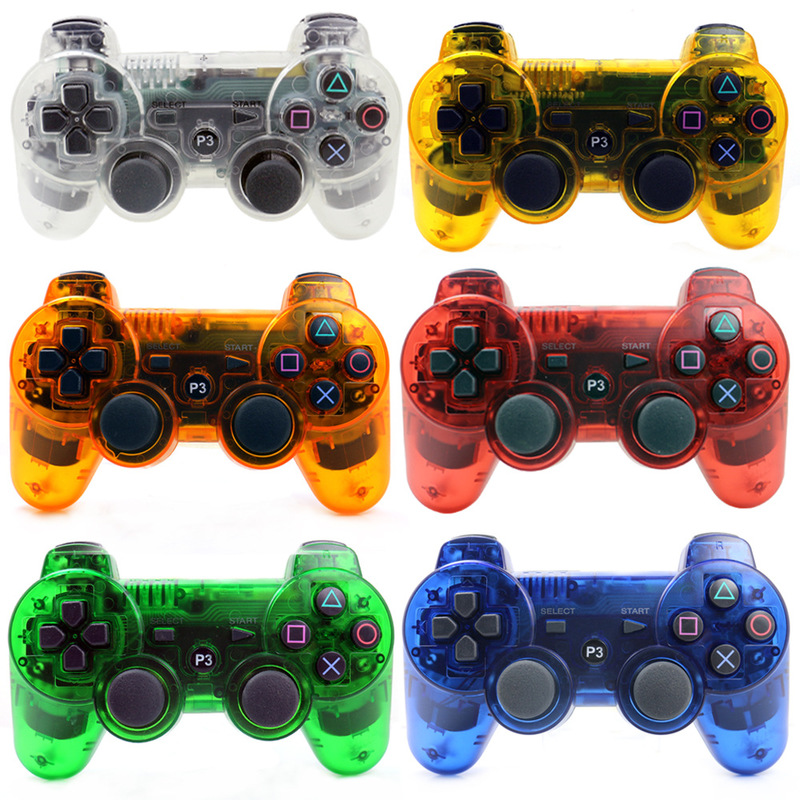 Transparent Bluetooth Wireless Controller For PS3 Gamepad Transparent Joystick Gaming title=