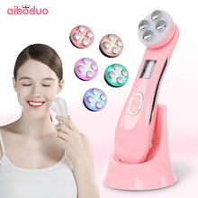 Facial Skin RF&EMS Mesotherapy Electroporation Radio Frequency LED Photon Skin Rejuvenation Device Lift Tight Beauty Instrumetn