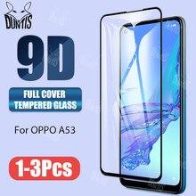 Protecteur d'écran à couverture complète, film en verre trempé 9D pour Oppo A93 A92 A53 A52 A31 A12 2020
