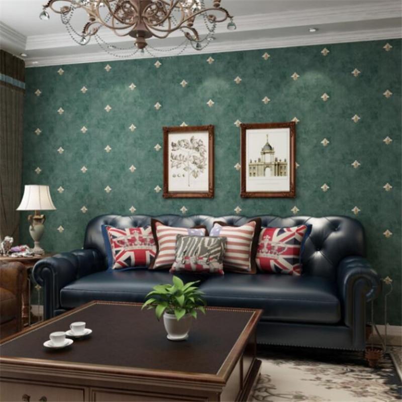 Wellyu pays américain rustique vert foncé papier peint rétro européen chambre salon fond papier peint