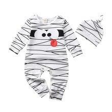 Комбинезоны для новорожденных девочек и мальчиков; комбинезон в полоску с длинными рукавами и рисунком+ шапка; теплый костюм; одежда для малышей; Прямая поставка